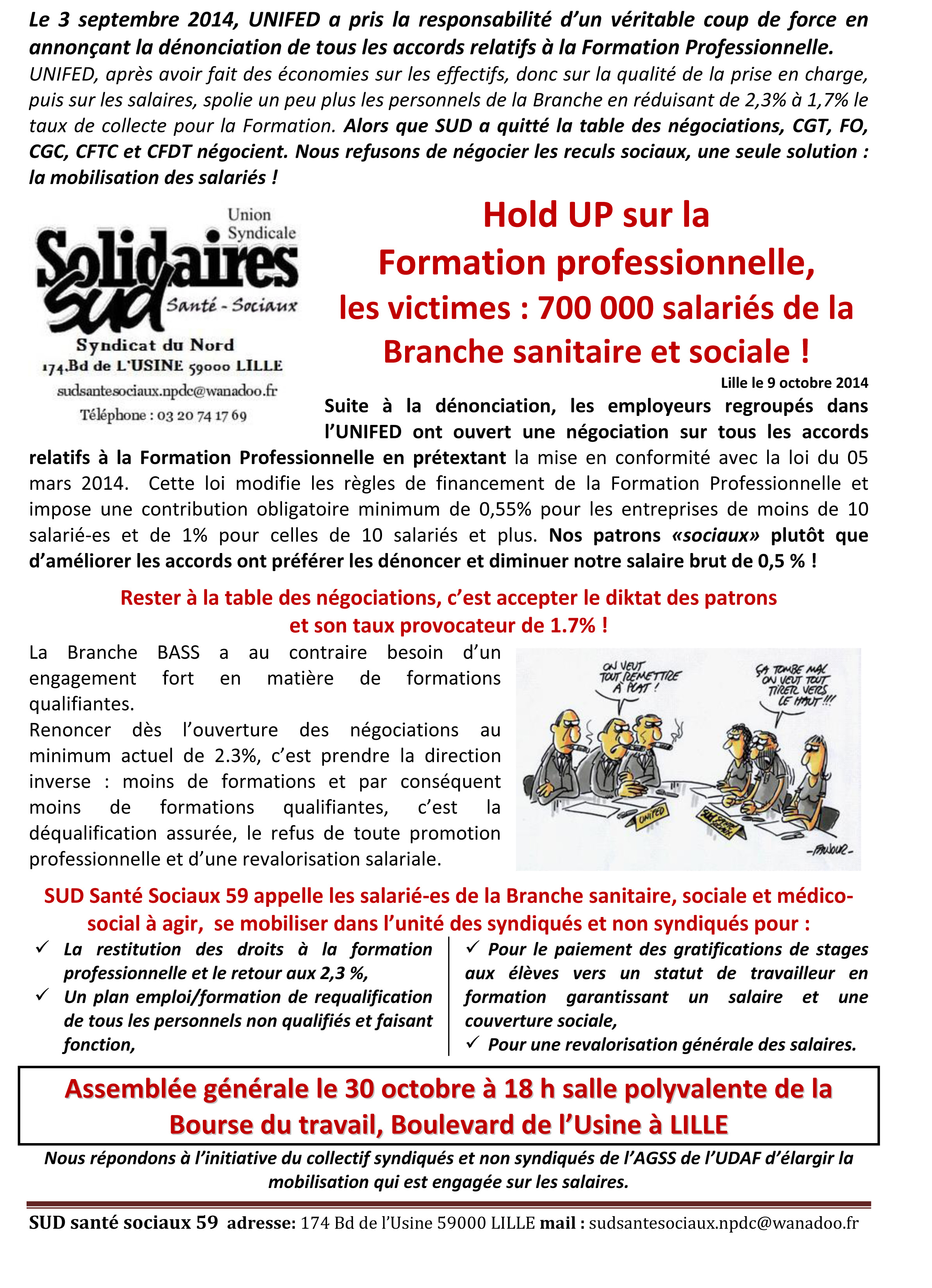 Hold up Formation Professionnelle oct 14