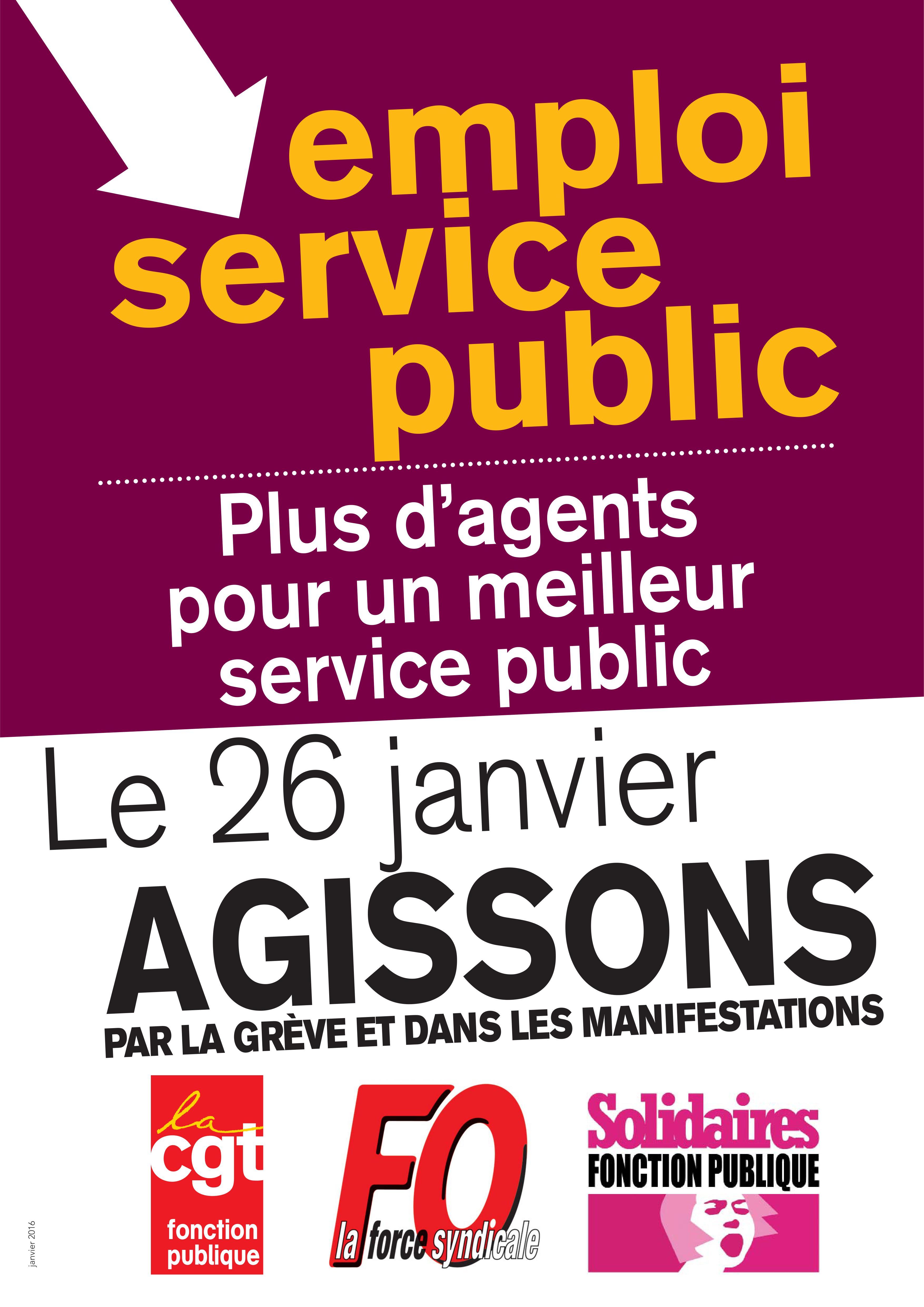 En Grève Pour le Service Public !